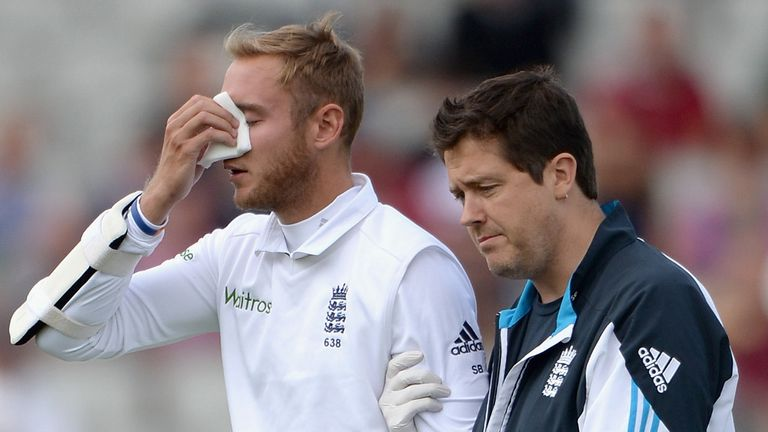 Stuart Broad: taken to hospital