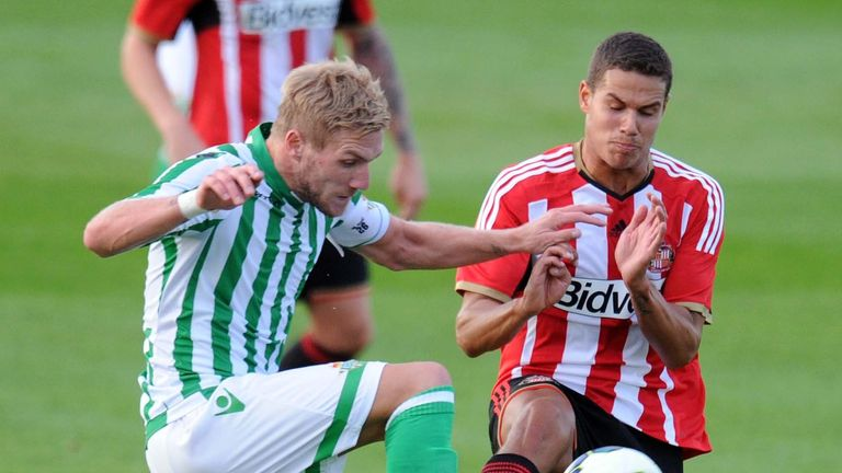 Jack Rodwell: Sunderland midfielder in action against Real Betis