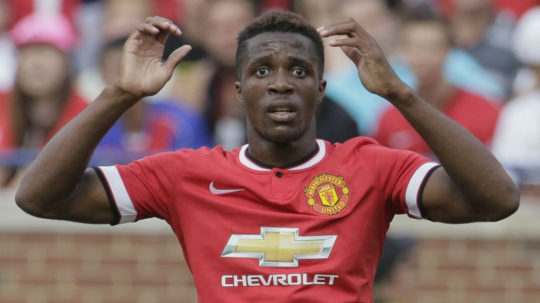 Wilfried Zaha: The Manchester United winger has failed to impress new manager Louis Van Gaal.