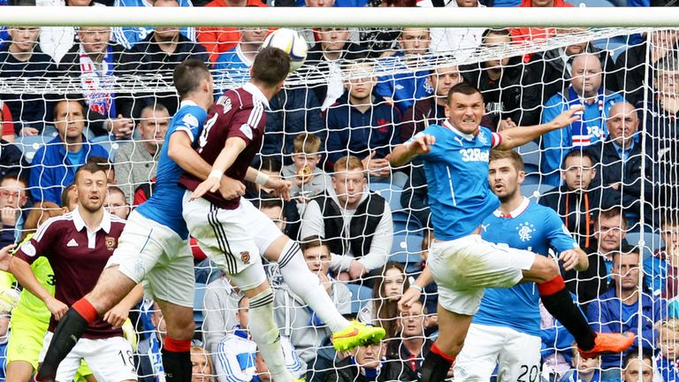 Danny Wilson: Scores for Hearts in the 2-1 victory over Rangers at Ibrox