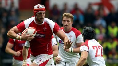 Luke Charteris: Gets the nod in the second row for Racing Metro