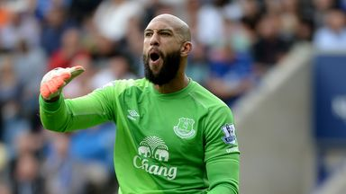 Tim Howard: Has impressed manager Roberto Martinez