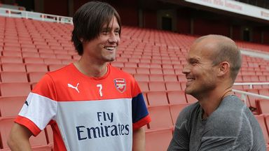 Tomas Rosicky: Chats with Freddie Ljungberg on Friday