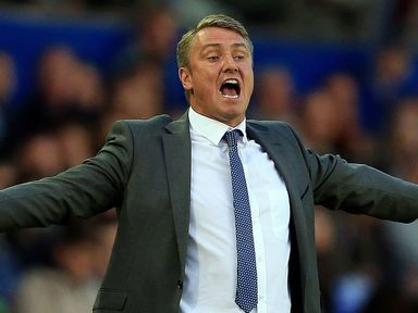 Birmingham City's manager Lee Clark watched his side draw 2-2