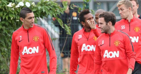 Angel di Maria trained with Manchester United on Friday