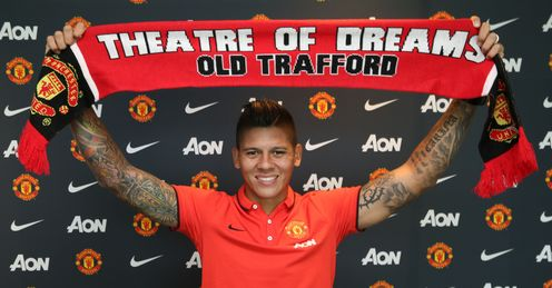 Marcos Rojo: Has joined United on a five-year deal
