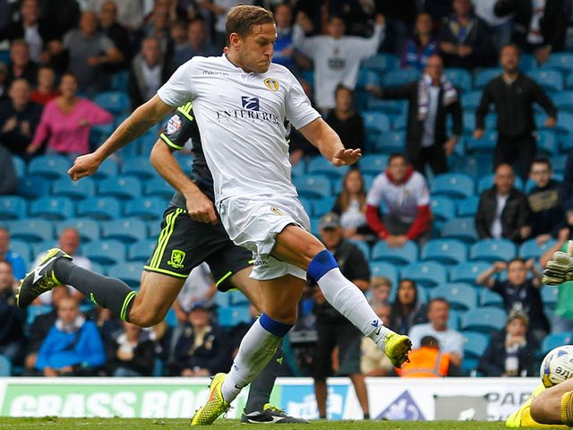 Billy Sharp scored a late winning goal for Leeds United