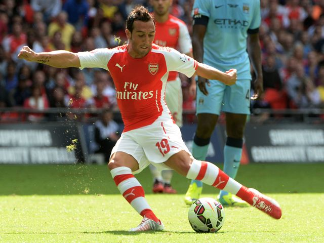 Santi Cazorla got the Gunners up and running with a neat finish