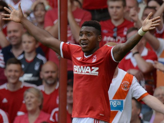 Britt Assombalonga notched a brace for Nottingham Forest