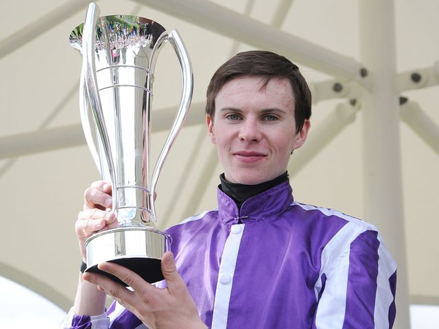 Joseph O'Brien celebrates victory