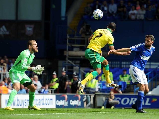 Lewis Grabban heads home