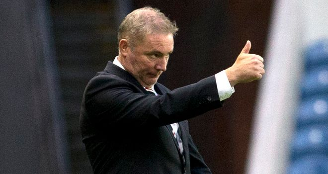 Ally McCoist: The Rangers manager is leading the charge to get the club back into the Scottish Premier League.