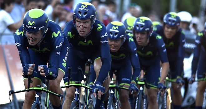 Movistar claimed victory by six seconds