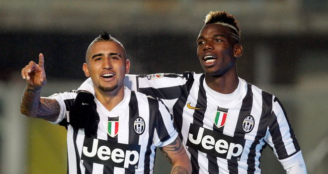 Arturo Vidal and Paul Pogba: Juventus team-mates