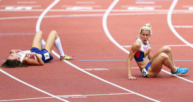 Jessica Judd and Lynsey Sharp exhausted after the 800m final