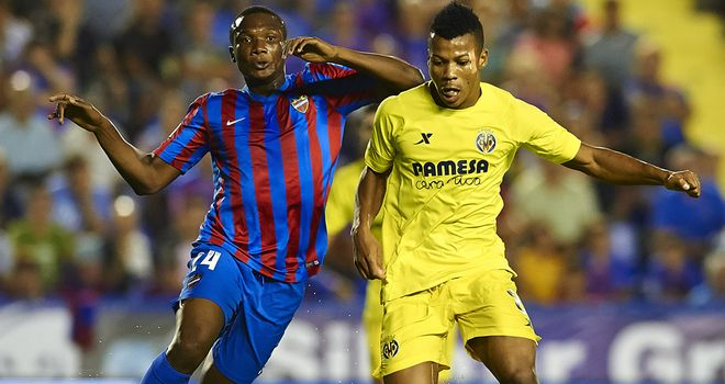 Ikechukwu Uche (r) was on target for Villarreal at Levante