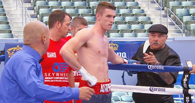 Callum Smith: blew his Mexican opponent away inside the first round.