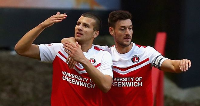 George Tucudean: Celebrates his goal against Derby