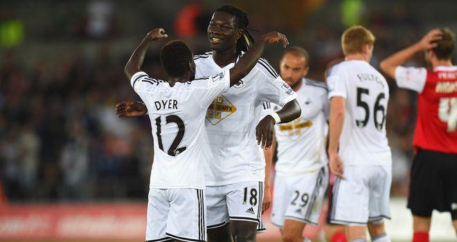 Bafetimbi Gomis: Opened his account for Swansea
