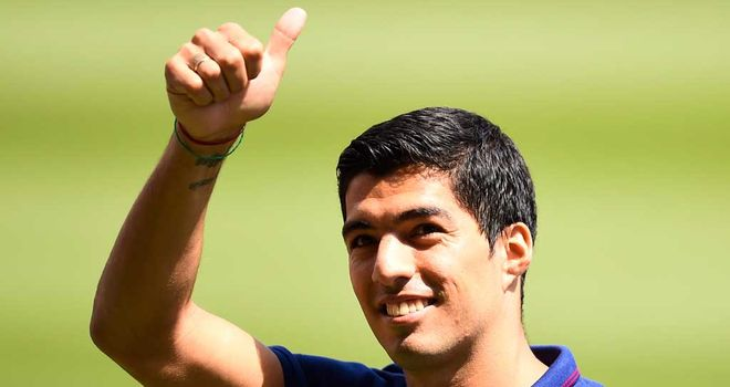 Luis Suarez: Signed from Liverpool while transfer ban was suspended