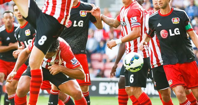 Graziano Pelle heads the ball into his own net at St Mary's