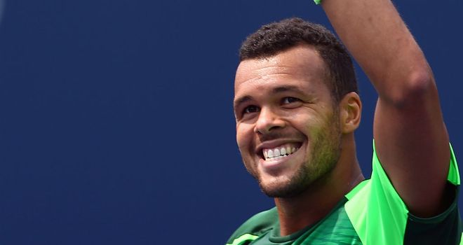 Jo-Wilfried Tsonga: The Frenchman will take on Grigor Dimitrov for a place in the final