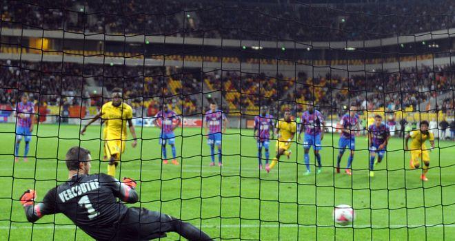 Divock Origi: Scores against Caen's French goalkeeper Remy Vercoutre