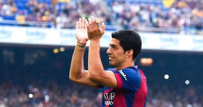 Luis Suarez: Made his first Barcelona appearance