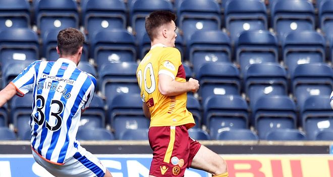 Robbie Muirhead: Gives Kilmarnock the lead against Motherwell