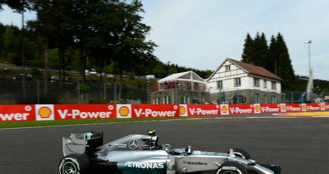 Nico Rosberg: Fastest in P1