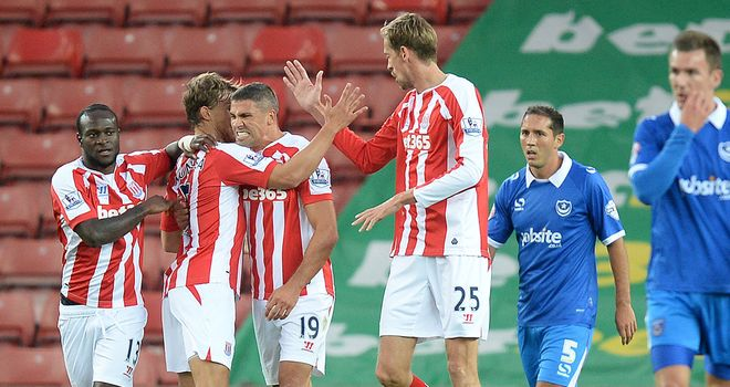 Jonathan Walters: Celebrates one of his two goals