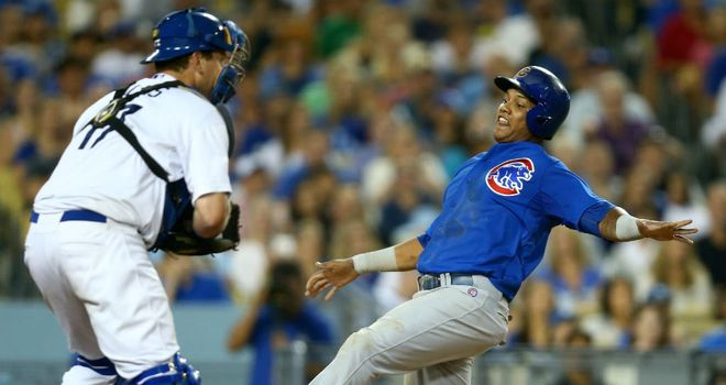 Starlin Castro (R): Made up for an early error with three hits and three runs for the Chicago Cubs