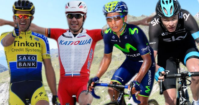 From left, Alberto Contador, Joaquim Rodriguez, Nairo Quintana and Chris Froome could all challenge for victory