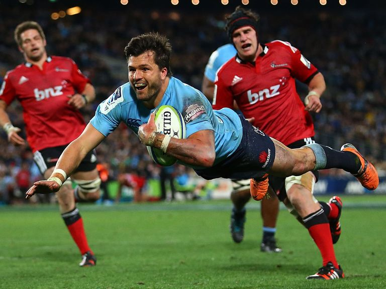 Adam Ashley-Cooper dives in for a Waratahs try