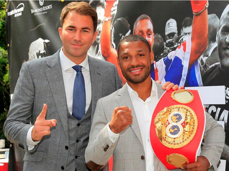 Promoter Eddie Hearn (l) is hoping to line up some mega-fights for Kell Brook (Pic: Lawrence Lustig)
