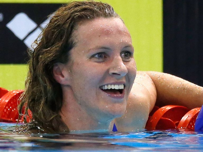 Jazz Carlin: All smiles after landing her second gold medal in Berlin