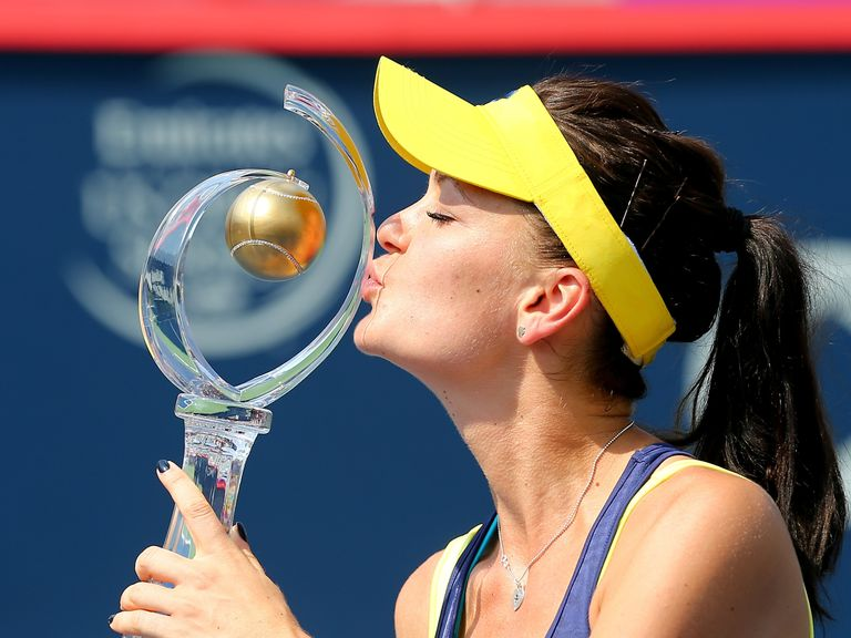 Agnieszka Radwanska celebrates Rogers Cup glory