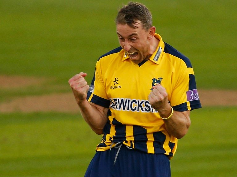 Rikki Clarke: Closing in on a ton for Warwickshire