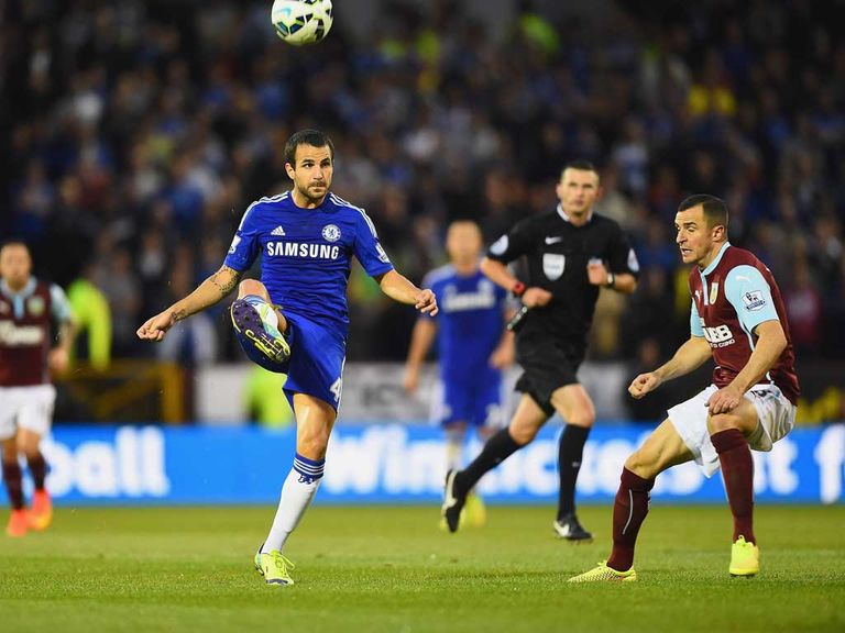 Cesc Fabregas in action against Burnley