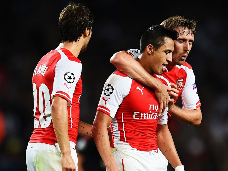 Arsenal reached the group stages of the Champions League