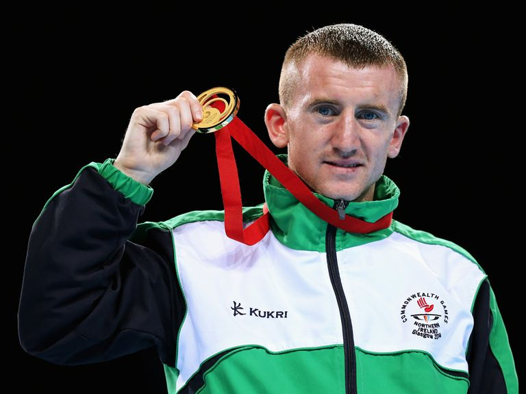 Gold medalist Paddy Barnes of Northern Ireland