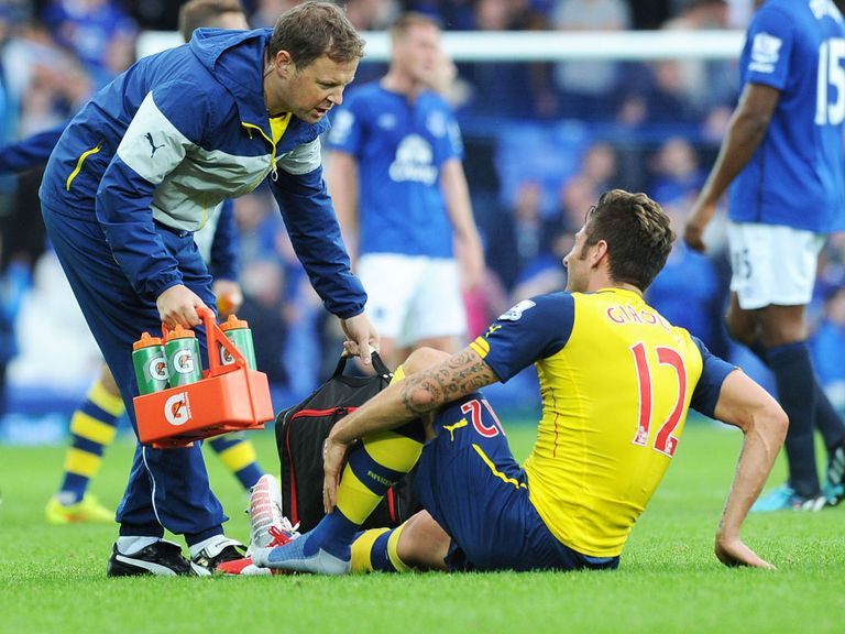Giroud: Ankle injury