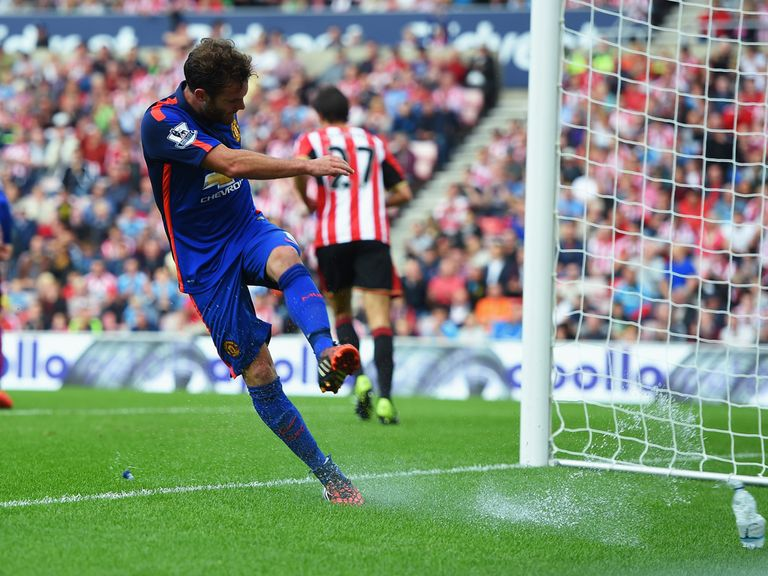 Juan Mata shows his frustration