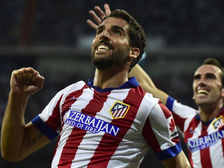 Atletico Madrid midfielder Raul Garcia celebrates after scoring his goal
