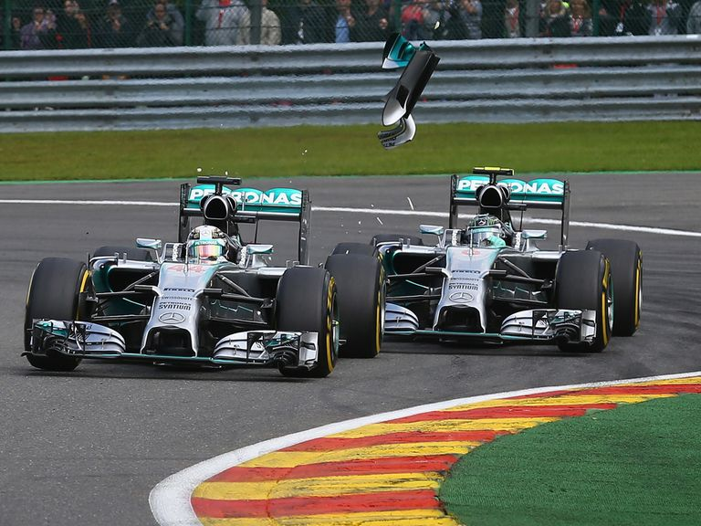 Hamilton and Rosberg collided at Spa