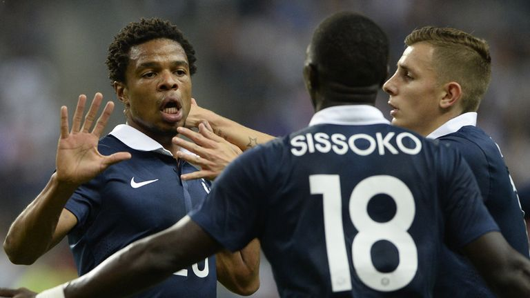 Loic Remy: Celebrates scoring against Spain