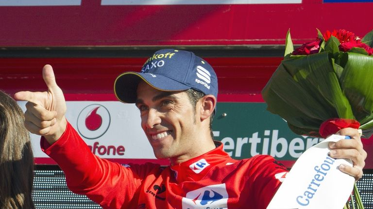 Alberto Contador took the race lead