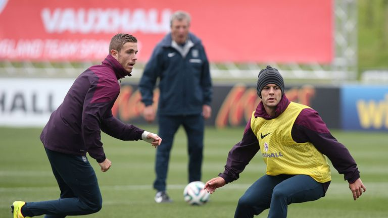 Henderson and Wilshere: need to step up for Hodgson