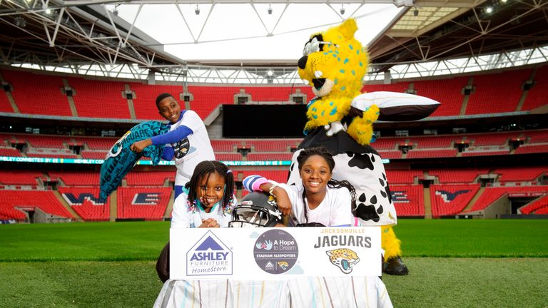 Ultimate sleepover party at Wembley Stadium hosted by the Jacksonville Jaguars