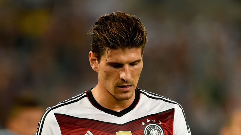Mario Gomez: Tough night for Germany